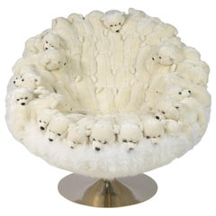 Polar Plush Baby Bears Armchair Swivel in Limited Edition