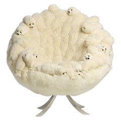 Polar Plush Baby Seals Armchair Swivel in Limited Edition