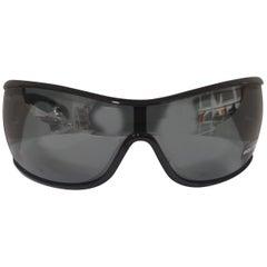 Police black mask sunglasses with swarovski stones