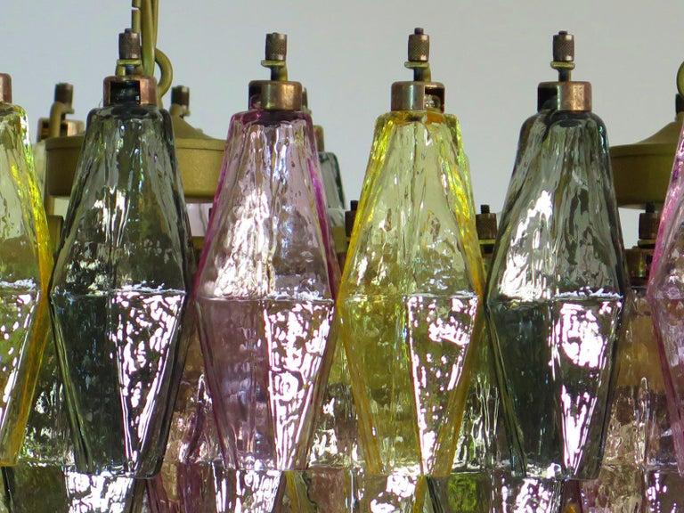 Poliedri Candelier Carlo Scarpa Style, 84 Multicolored Glasses, Murano 6