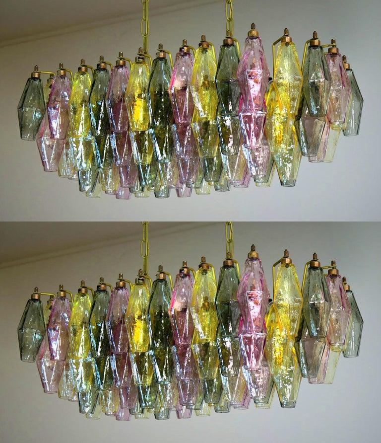 Poliedri Candelier Carlo Scarpa Style, 84 Multicolored Glasses, Murano 8