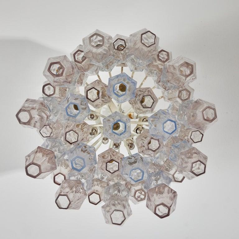 Poliedri Chandelier by Carlo Scarpa for Venini For Sale 6