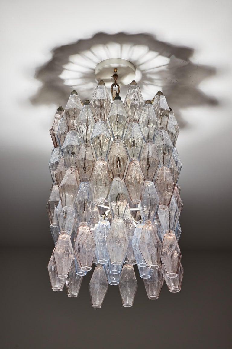 Glass Poliedri Chandelier by Carlo Scarpa for Venini For Sale