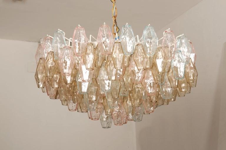 Poliedri Glass Chandelier by Carlo Scarpa for Venini For Sale 4