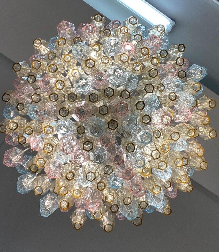 Poliedri Glass Chandelier by Carlo Scarpa for Venini For Sale 7