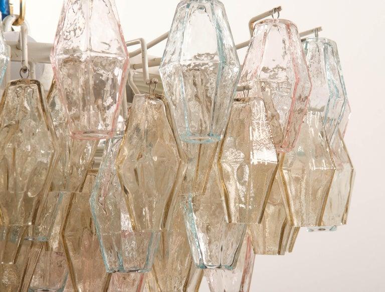 Poliedri Glass Chandelier by Carlo Scarpa for Venini For Sale 8