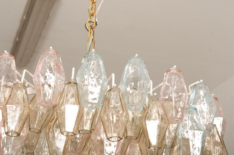 Poliedri Glass Chandelier by Carlo Scarpa for Venini For Sale 9