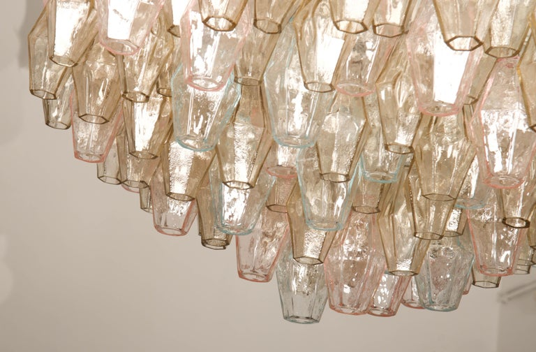Poliedri Glass Chandelier by Carlo Scarpa for Venini For Sale 10