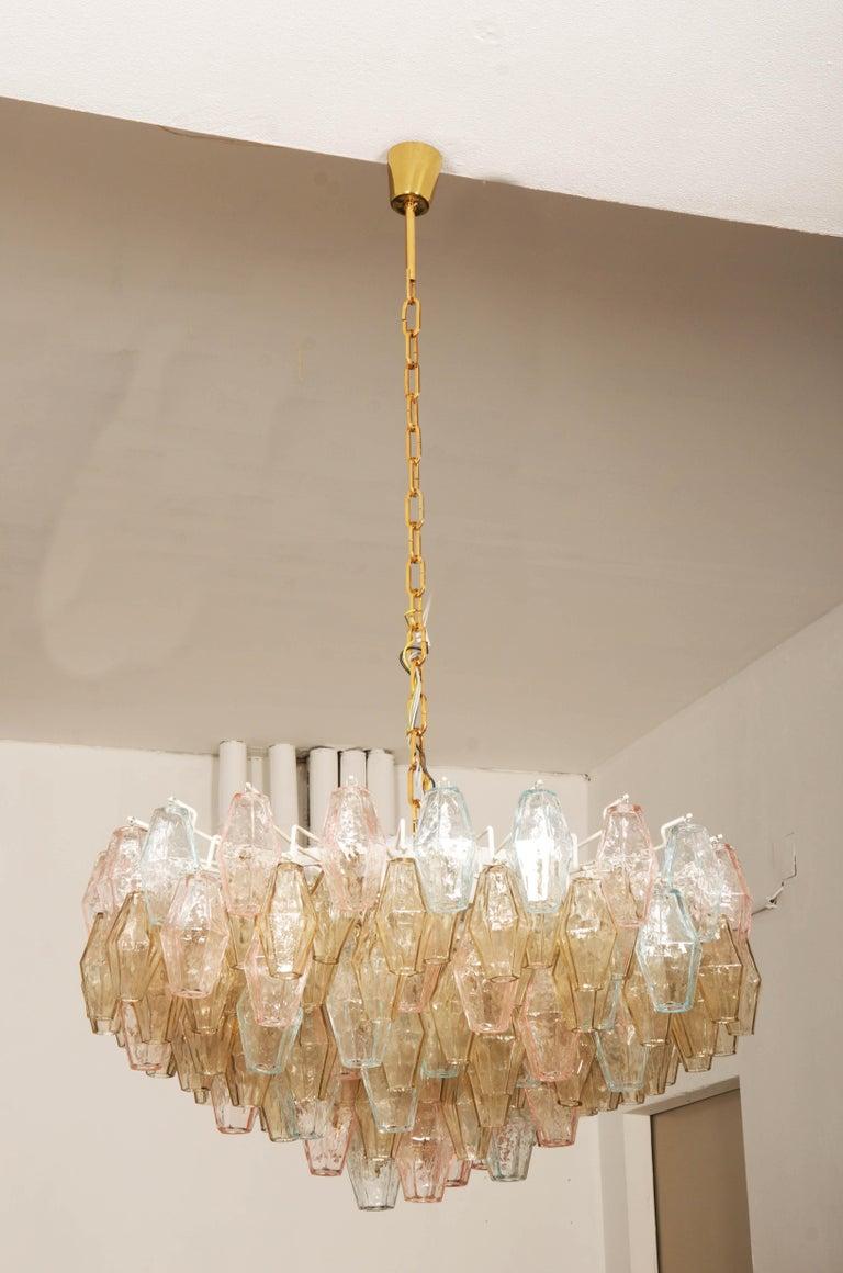 Mid-Century Modern Poliedri Glass Chandelier by Carlo Scarpa for Venini For Sale
