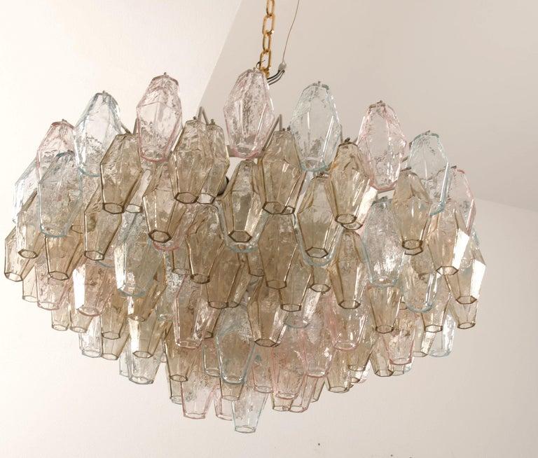 Italian Poliedri Glass Chandelier by Carlo Scarpa for Venini For Sale