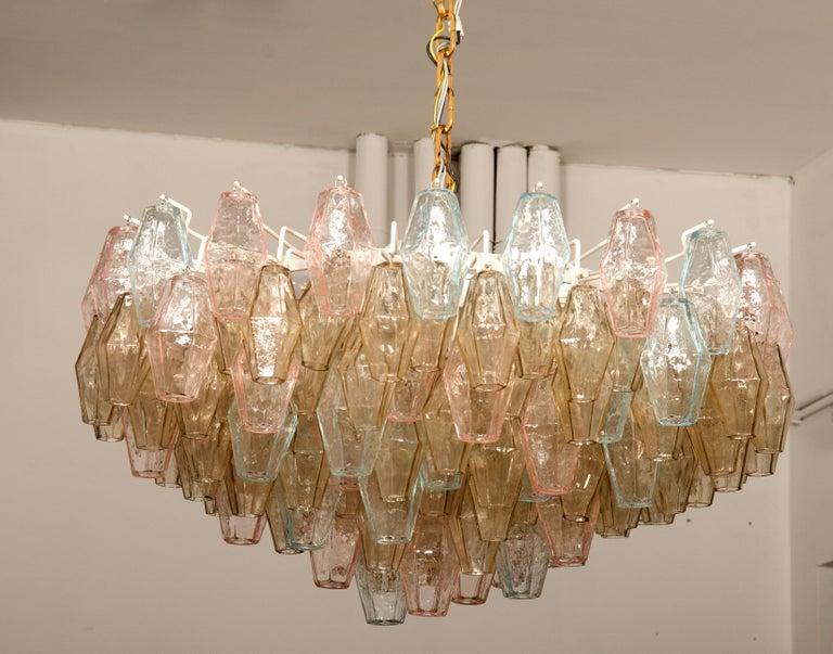 Poliedri Glass Chandelier by Carlo Scarpa for Venini For Sale 2