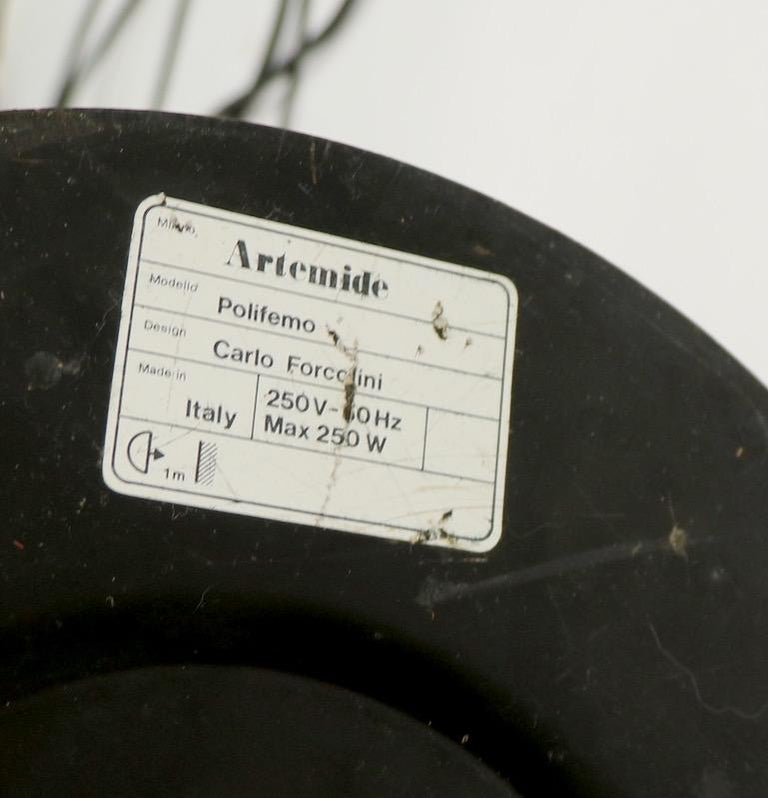 Polifemo Floor Lamp by Carlo Forcolini for Artemide For Sale 9