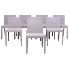 Poliform 'Fly Tre' Grey Dining Chairs by Carlo Colombo, Set of 8