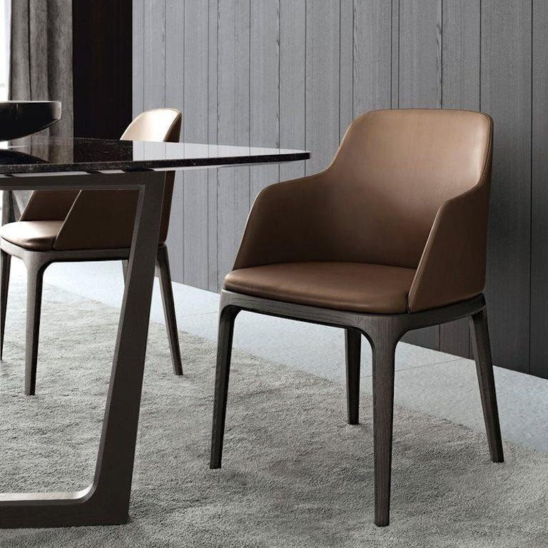 Poliform Grace Dining Chair Without Arms In Fabric Or