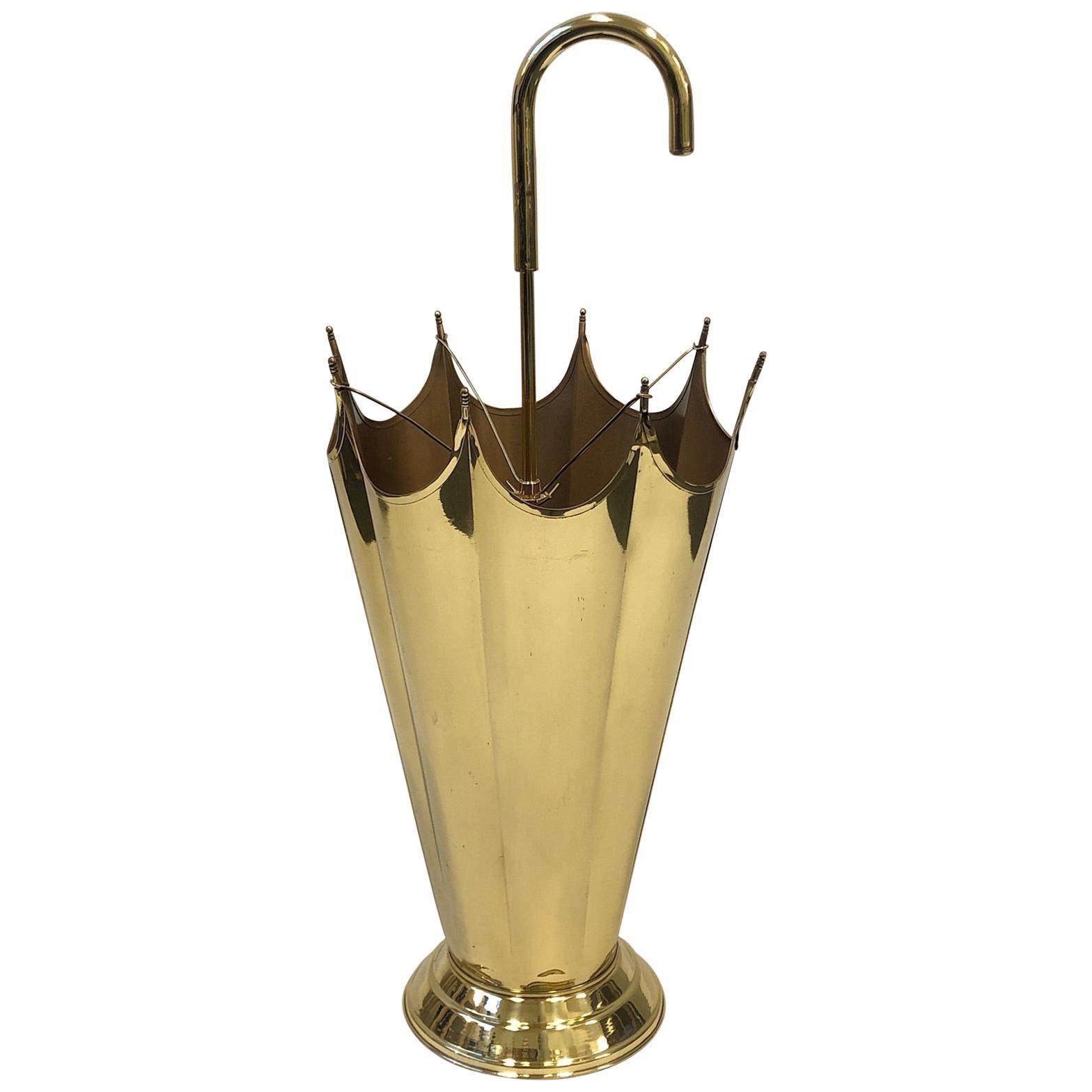 Polish Brass Umbrella Holder