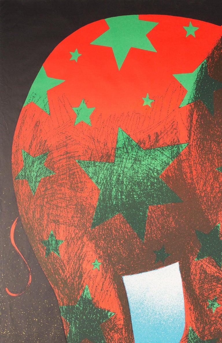 Paper Polish, Vintage Cyrk/Circus Poster Star Elephant 1974, Wasilewski For Sale
