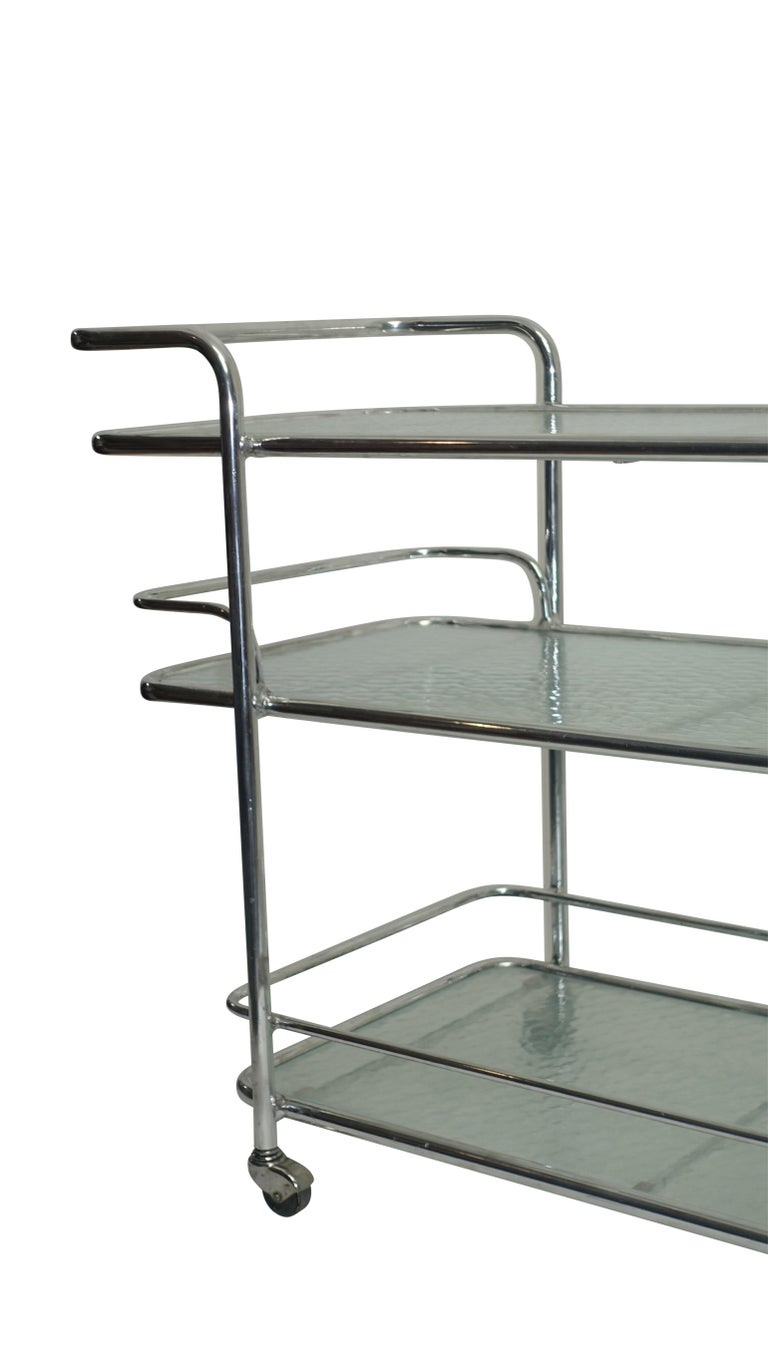 Polished Aluminum Food Service or Bar Cart, American, circa 1950 For Sale 1