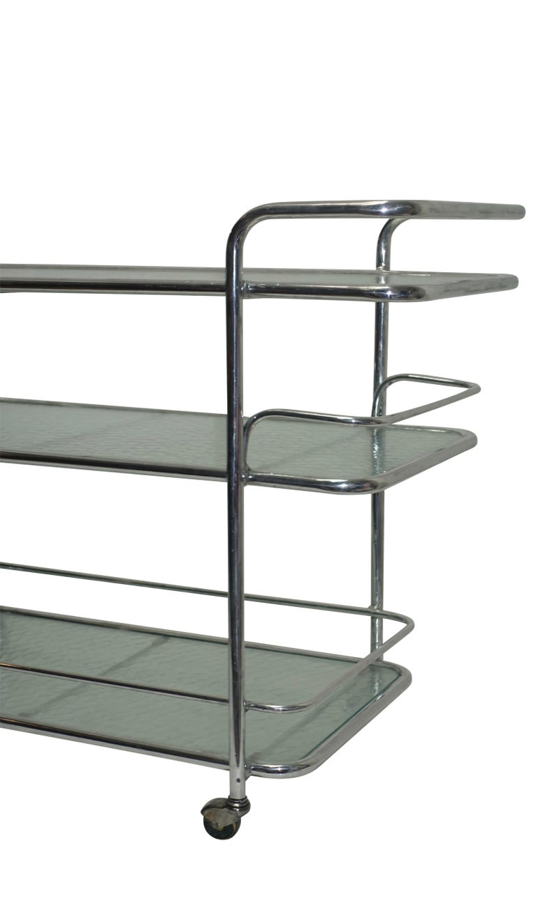 Polished Aluminum Food Service or Bar Cart, American, circa 1950 For Sale 3