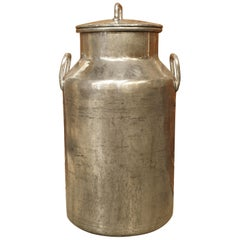 Polished Aluminum Milk Container from Dijon, France, circa 1920