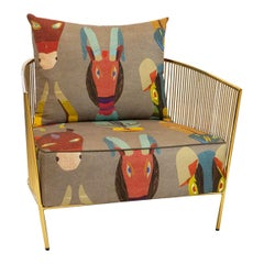 Polished Brass Club Chair