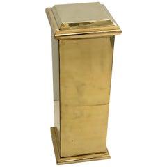 Polished Brass Pedestal by Decorative Crafts
