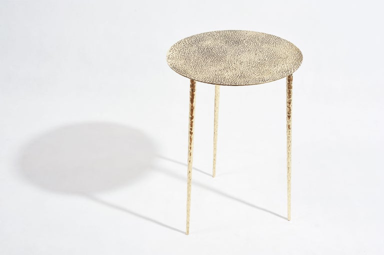 Polished Brass Side Table Signed by Lukasz Friedrich For Sale 4
