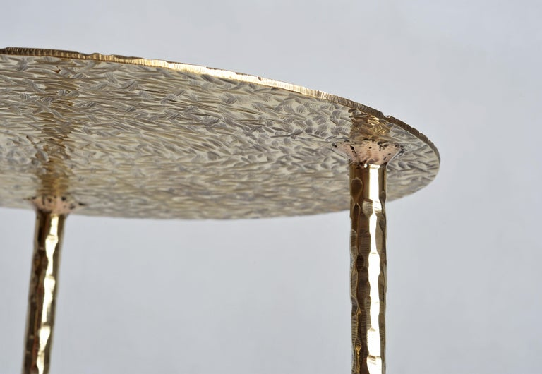 Polished Brass Side Table Signed by Lukasz Friedrich For Sale 5