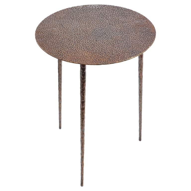 Polished Brass Side Table Signed by Lukasz Friedrich For Sale 6