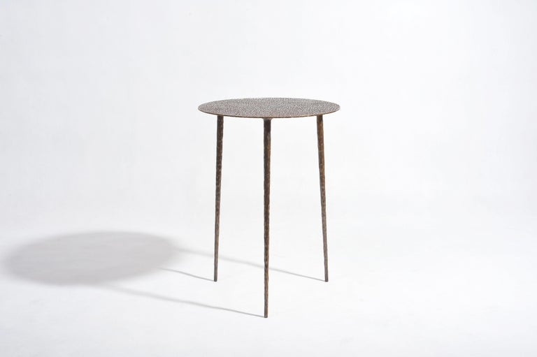 Polished Brass Side Table Signed by Lukasz Friedrich For Sale 7