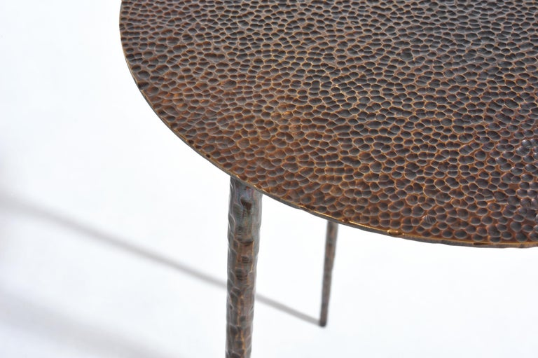Polished Brass Side Table Signed by Lukasz Friedrich For Sale 8