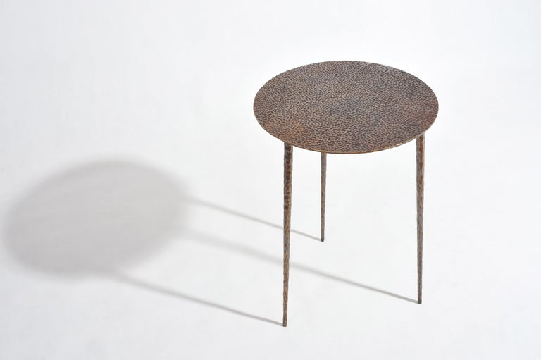 Polished Brass Side Table Signed by Lukasz Friedrich For Sale 9