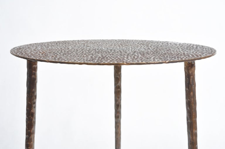 Polished Brass Side Table Signed by Lukasz Friedrich For Sale 11