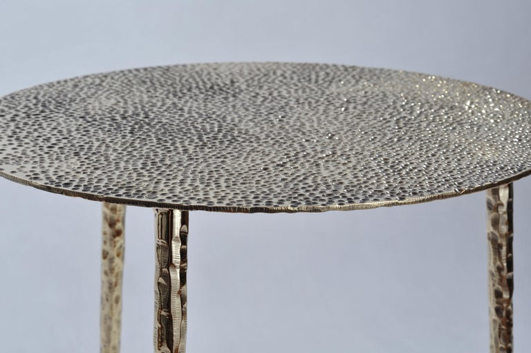 Polished Brass Side Table Signed by Lukasz Friedrich In New Condition For Sale In Geneve, CH
