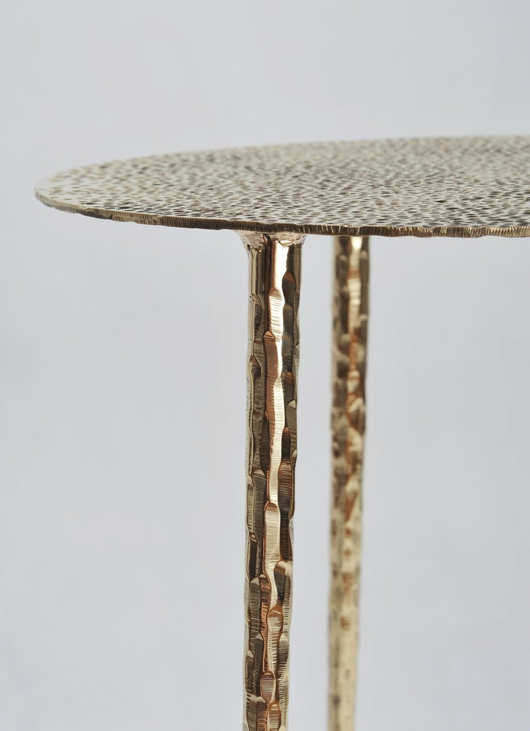 Polished Brass Side Table Signed by Lukasz Friedrich For Sale 3