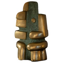 Polished Bronze Abstract Sculpture, Signed and Dated Pita Zaire 89