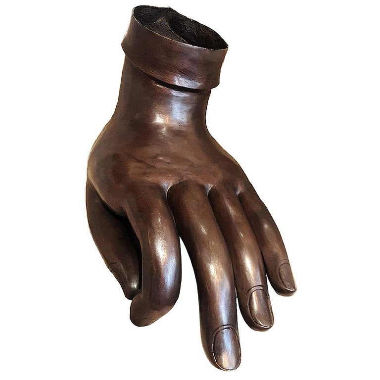 Polished Bronze Buddha Hand For Sale