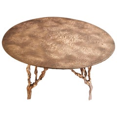 Polished Bronze Table