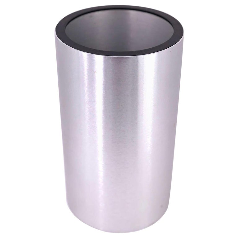 Polished Brushed Aluminum Wine Cooler by Aurora Designs Associates For Sale