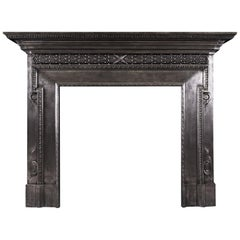 Polished Cast Iron Fireplace in the Mid Georgian Style