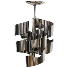 Polished Chrome Chandelier by Sciolari for Lightolier