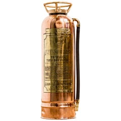 Polished Copper & Brass Fire Extinguisher