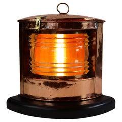 Polished Copper Ships Lantern