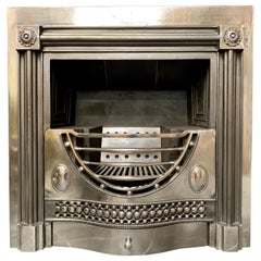 Polished Georgian Period Style Adam Register Hob Grate Fireplace Insert