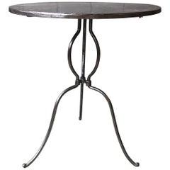 Polished Iron Garden Table