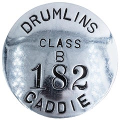 Polished Metal Golf Caddie Badge, circa 1930s
