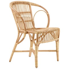 Polished Natural Rattan Robert Wengler Indoor Armchair by Sika Design