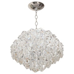 Polished Nickel Five-Tiered Pendant Fixture