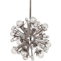 Polished Nickel Mini Sputnik Chandelier
