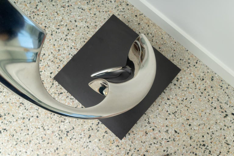 American Polished Stainless Steel Sculpture For Sale