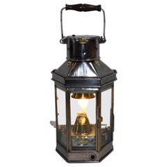Polished Steel Ship or Yacht Cabin Lantern